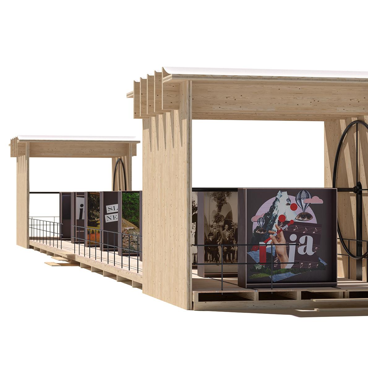Mobile Ausstellung. Architektur: Winkler+Ruck / Certov Architekten. Rendering ImageFX